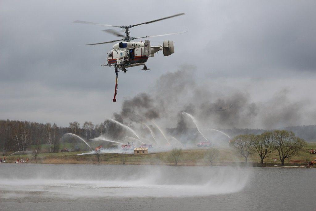 В Кленовском прошли учения Министерства по чрезвычайным ситуациям