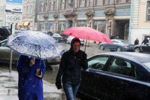 В течение всего дня в столице будет идти мокрый снег.