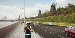 Проект благоустройства Кремлевской набережной, согласно стандартам программы «Моя улица»
