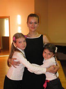Марина Вельмогина и ученицы
