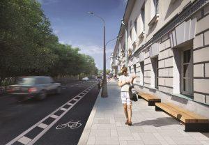Проект реконструкции Тверского бульвара. Именно так он будет выглядеть после благоустройства, которое проводится по программе «Моя улица». Все работы будут закончены уже к началу этой осени