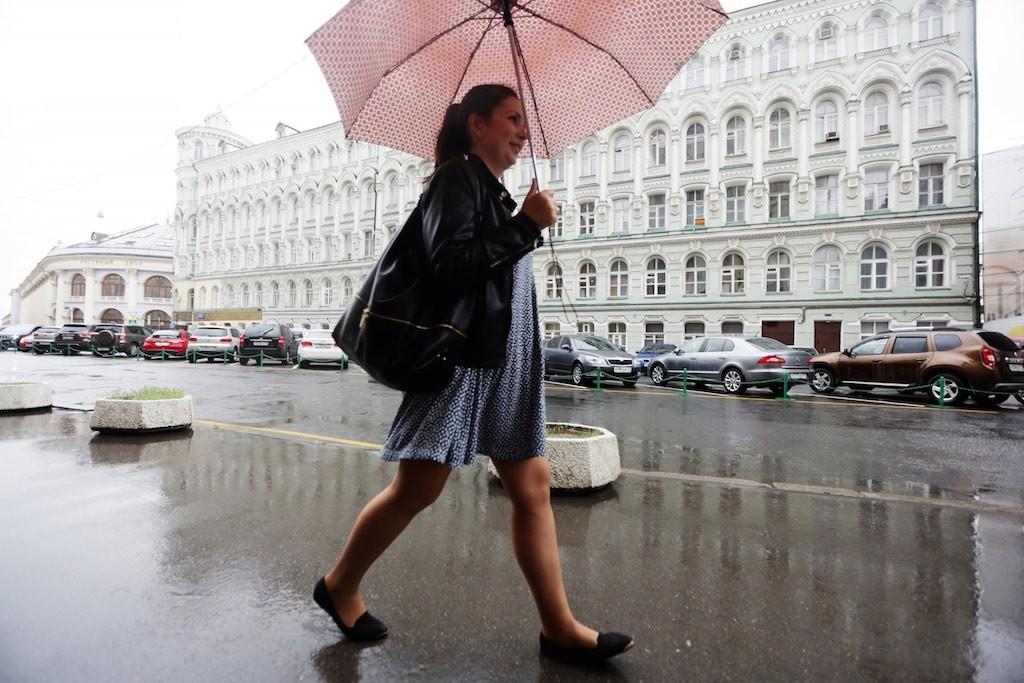 Кратковременные дожди ожидаются в Москве в воскресенье