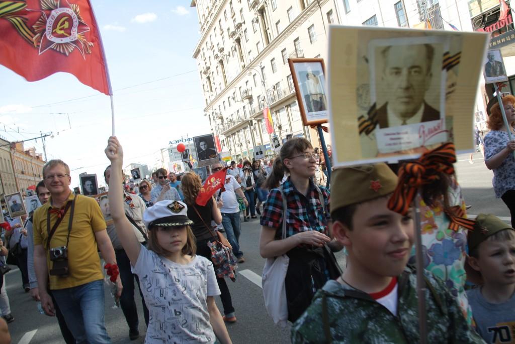 Акция «Бессмертный полк». 9 мая 2016 года. Фото: Павел Волков «Вечерняя Москва».
