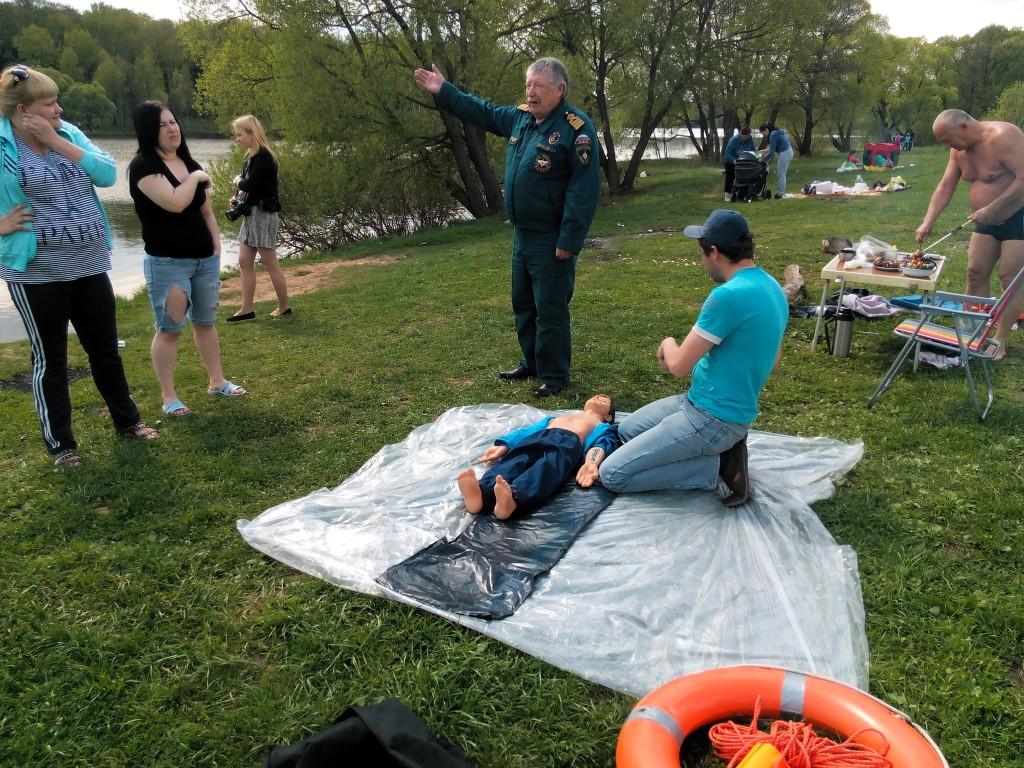 Жители Щаповского узнали о мерах безопасности на воде