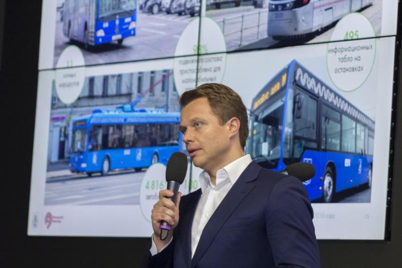 Руководитель Департамента транспорта Москвы Максим Ликсутов. Фото: Сара Зицерман.
