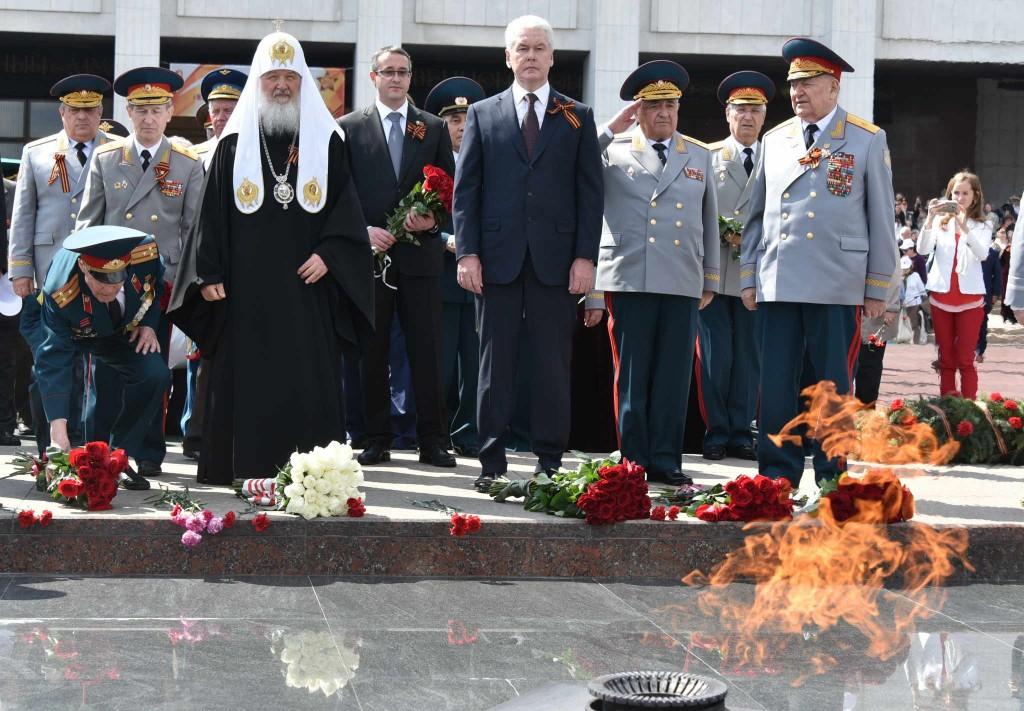 Мэр Москвы Сергей Собянин посетил II Московский парад кадет на Поклонной горе