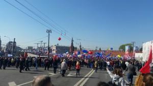 Первомайская демонстрация. Фото предоставила Анна Голубева.