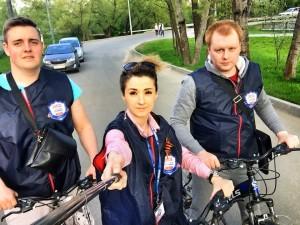 Активисты движения «Безопасная столица» на велорейде в Троице. Фото: Маргарита Торосян.