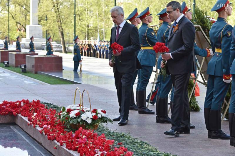 Сергей Собянин почтил память погибших в Великой Отечественной войне