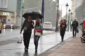 Метеорологи прогнозируют в субботу дожди