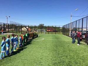 """14 мая на территории СК """"Вороново"""" открыли новую площадку для занятия футболом. Фото предоставил Алексей Володин."""