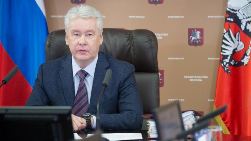 Мэр Москвы присоединился к первомайскому шествию