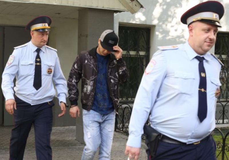 Арестованный Гагаринским районным судом Москвы Абдувахоб Маджидов. Фото: Агентство городских новостей «Москва».