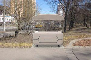 Типовое архитектурное решение для тележек «Мороженое». Фото: пресс-служба Москомархитектуры.