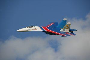 Истребитель Су-27 группы «Русские витязи» разбился в Подмосковье: пилот погиб. Фото: ТАСС.