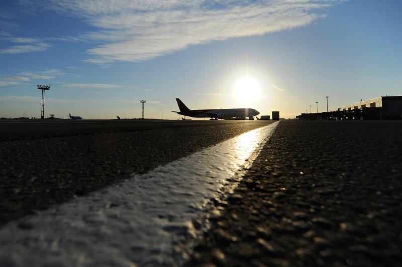 Пассажирский самолет сел в Домодедово без двигателя