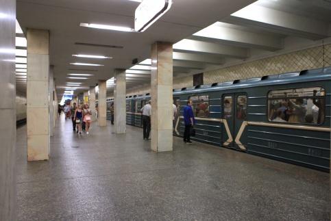 На фиолетовой ветке произошел сбой в движении поездов
