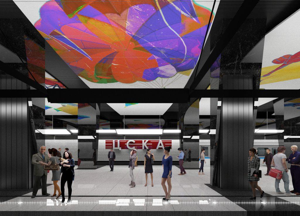 Власти Москвы утвердили дизайн станции метро «ЦСКА»