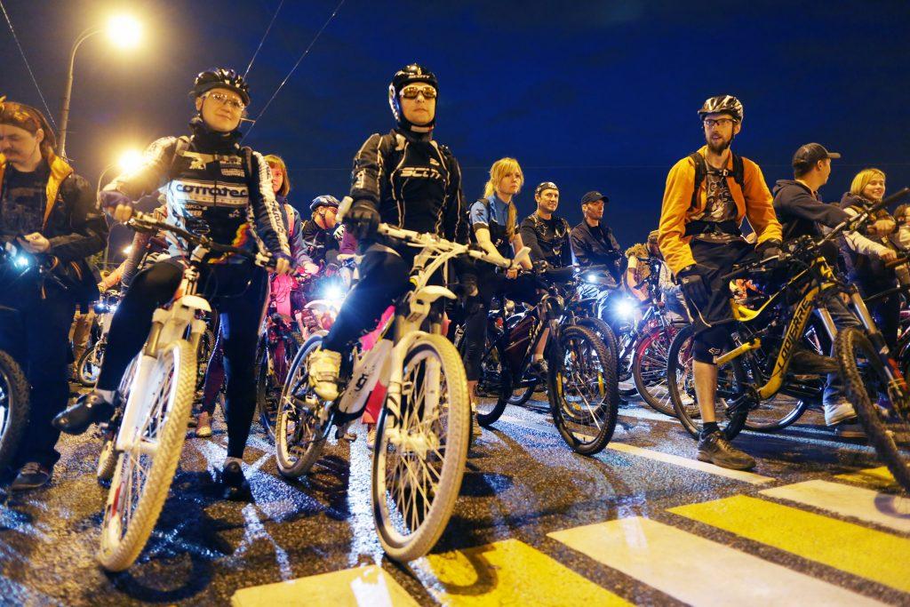 В субботнюю ночь пройдет заезд велосипедистов