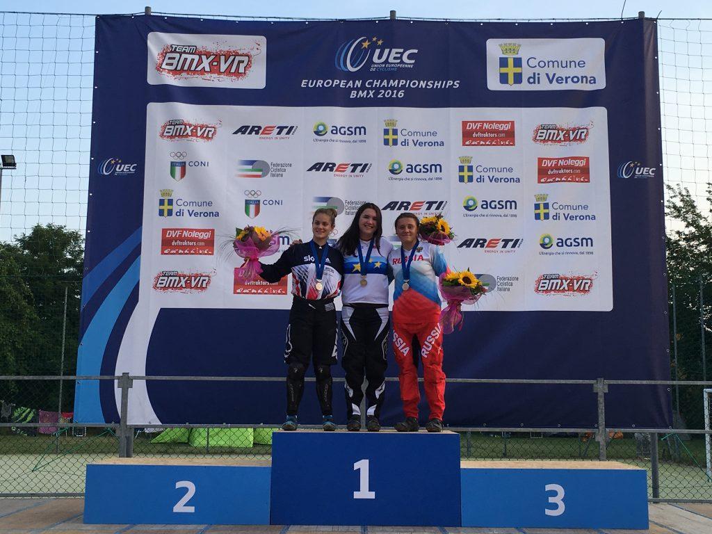 Велосипедистки из Новой Москвы взяли бронзовые медали на Чемпионате Европы по BMX