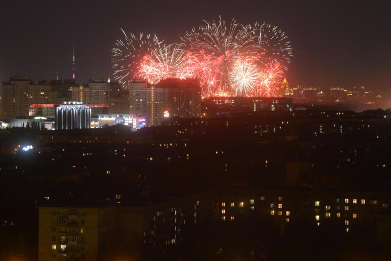 Москва приметвторой Международный фестиваль фейерверков