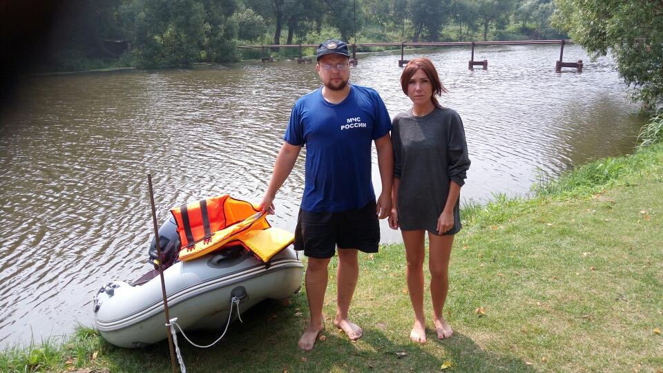 Женщину спасли от гибели на воде