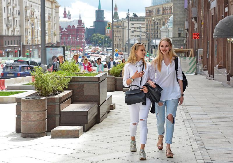 Благоустройство Тверской улицы в Москве завершено досрочно