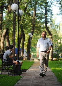 1 августа 2016 года. Мосрентген. Глава администрации поселения Евгений Ермаков в новом парке