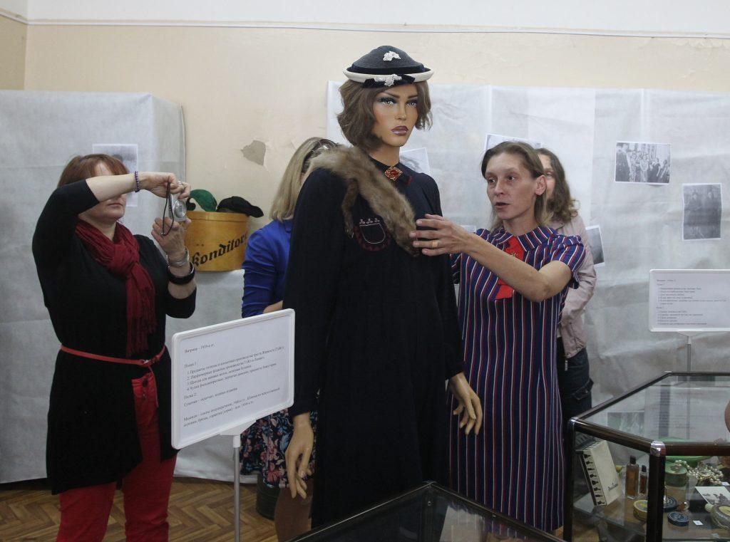 Выставка Ретро в Рогово. На фото: Мария Новикова.