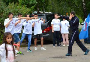 Звезды спорта провели зарядку с жителями ТиНАО и Солнцева