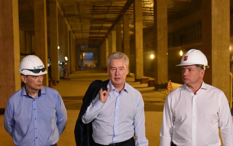 Мэр Москвы Сергей Собянин осмотрел ход строительства станции метро Шелепиха