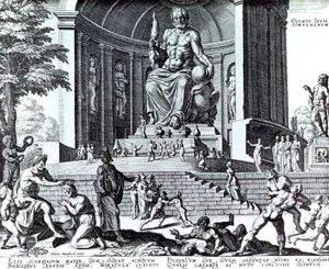 Рисунок статуи Зевса. Источник: википедия.