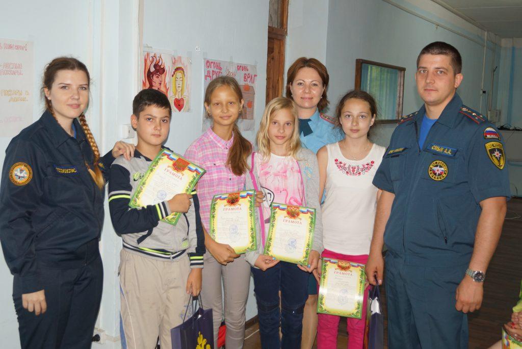 В детском лагере «Горки» подвели итоги конкурса на противопожарную тематику