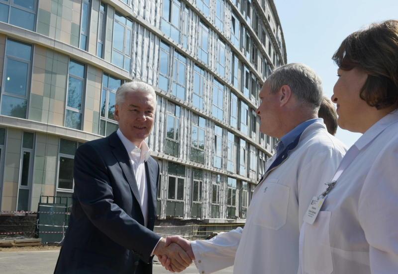 Собянин отметил высокие темпы строительства Перинатального центра ГКБ №67