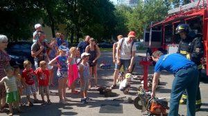 В пожарной части Коммунарки прошел день открытых дверей. Фото: социальные сети