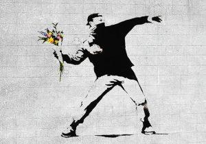 Лондон (Англия). Работа известного «вандала» Banksy
