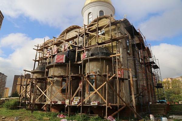 В Храме Преображения Господня в Коммунарке начнут внутреннюю отделку