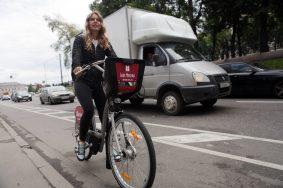 Велодорожка на Бульварном кольце.