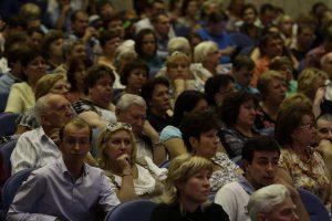 """Практически, на каждой встрече зал не мог вместить всех желающих. Фото: архив, """"Вечерняя Москва"""""""