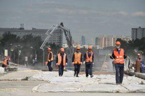 14 июня 2016 Мэр Москвы Сергей Собянин осмотрел ход строительсва эстакады на пересечении Липецкой и Элеваторной улиц