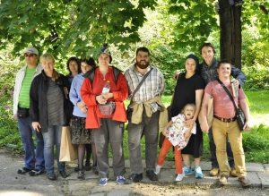 Актриса сериала «Не родись красивой» и «особенные» дети посетили библиотеку Корнея Чуковского. Фото: социальные сети