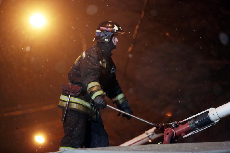 В деревне Давыдково успешно локализовали возгорание