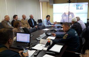 4 октября в Новой Москве провели селекторное совещание. Фото: предоставлено пресс-службой Управления МЧС по ТиНАО