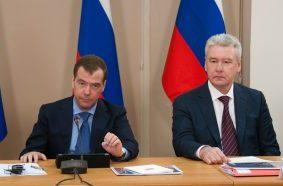 Собянин и Медведев обсудили новые технологии в здравоохранении. Фото: Наталья Феоктистова