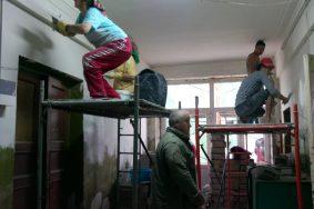 Капитальный ремонт дома на Первомайской улице, дом 128а  Частичный капитальный ремонт дома на Первомайской улице, дом 128а
