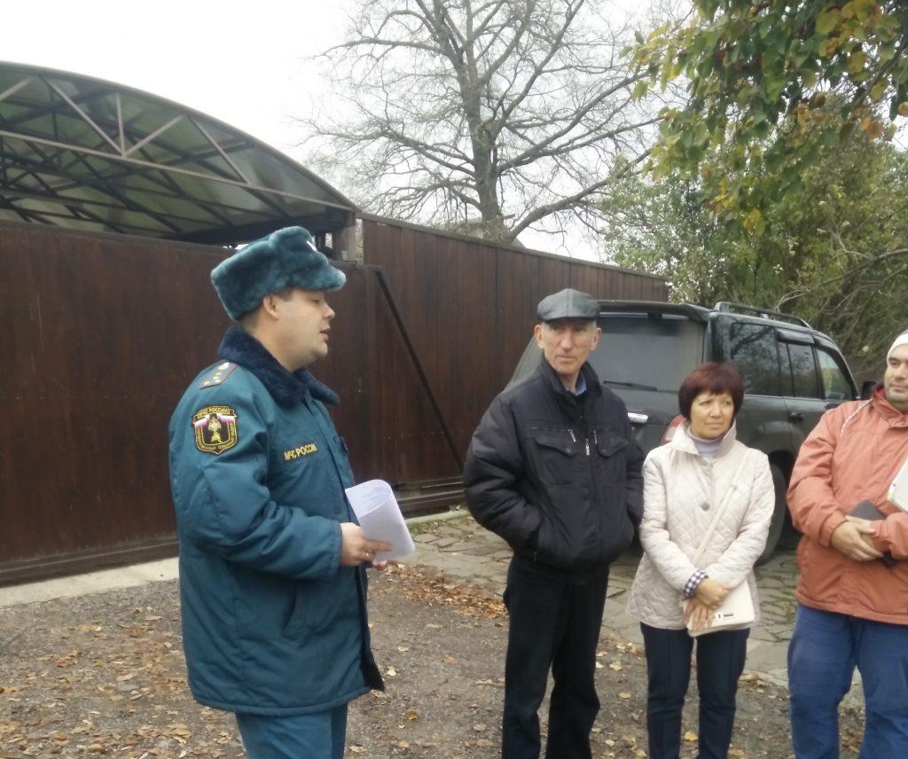 Жителям деревни Лапшинка напомнили правила пожарной безопасности