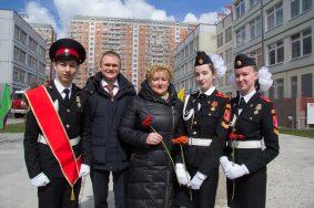 Торжественные мероприятия в честь Героя России Евгения Чернышева в кадетских классах школы 2065