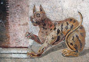 Кошка. Мозаика из Помпеи. Фотоархив Wikipedia