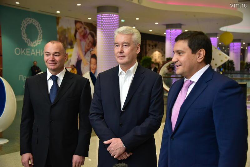 Сергей Собянин открыл на западе Москвы новый торговый центр «Океания»