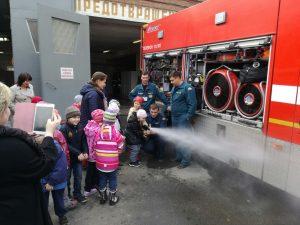 День открытых дверей в пожарно-спасательной части. Фото предоставлено пресс-службой Управления МЧС по ТиНАО